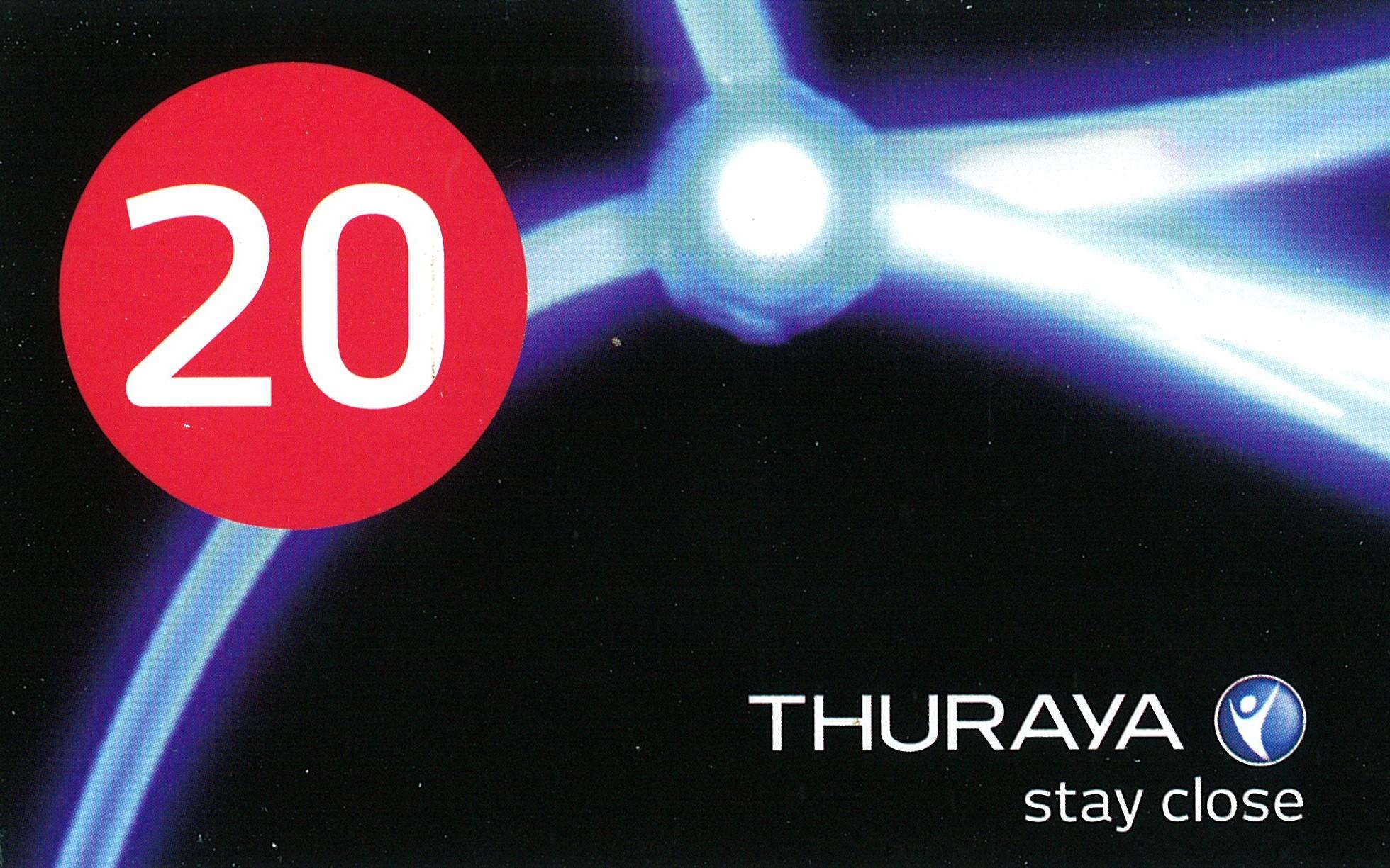Recharge virtuelle Thuraya 20 unités